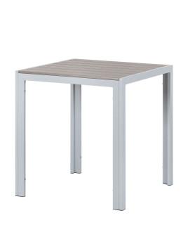 Gartentisch Montego V - Polywood / Aluminium - Hellgrau, Kings Garden
