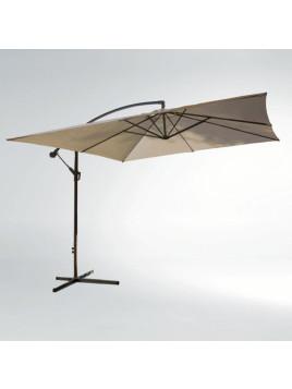 Parasol carré, bras déporté, avec socle