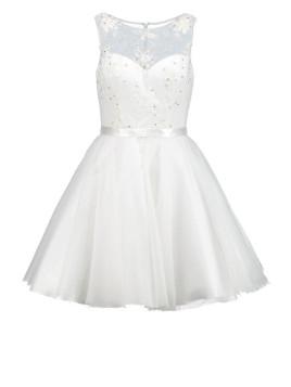 Cocktailkleid / festliches Kleid cream white