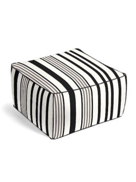 Black & White Stripe Outdoor Pouf