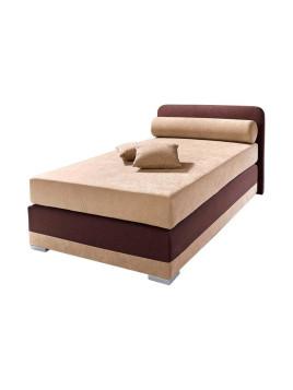 Boxspring-Bett, Maintal weiß 140/200 cm Obermatratze Bonnell, Tonnentaschenfederkern oder Kaltschaum