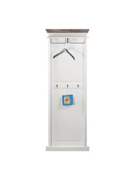 Garderobenpaneel Basilico II - Fichte teilmassiv - Weiß/Graubraun, Maison Belfort
