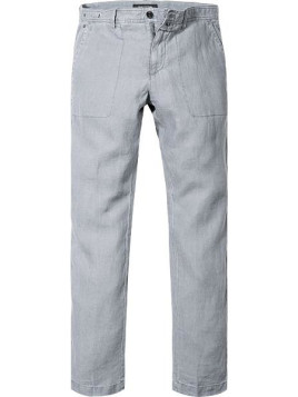 Herren Hose Chino Regular Fit Leinen grau