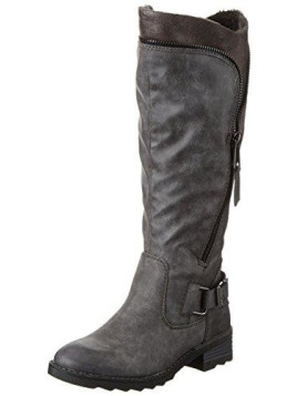 Damen 26601 Langschaft Stiefel, Grau (Grey Antic 212), 37 EU