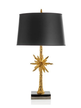 Starburst Gold-Tone Table Lamp
