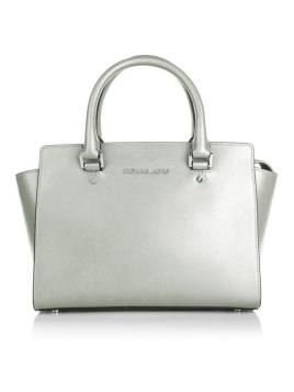 Tasche - Selma MD TZ Satchel Silver - in silber - Henkeltasche für Damen
