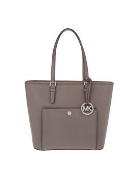 Tasche - Jet Set Item MD TZ Snap Pocket Tote Leather Cinder - in braun, grau - Henkeltasche für Damen
