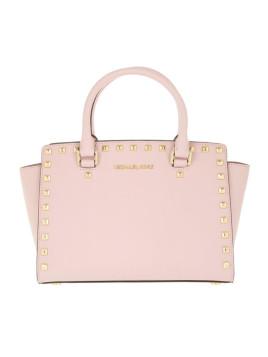 Tasche - Selma Studded MD TZ Satchel Bag Blossom - in gold, rosa - Henkeltasche für Damen