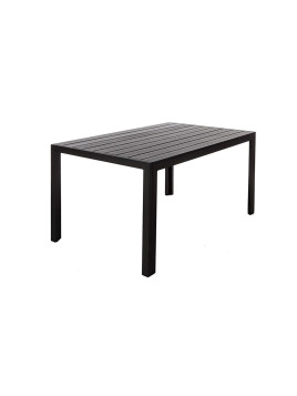 Table de jardin design imitation bois noir 150 x 90 REMOS