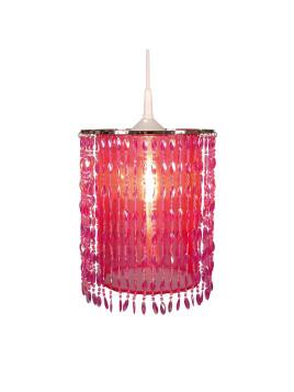 Schirm Fancy zu Pendel-/Tischleuchte Fancy - Metall/ Textil - Pink - 1-flammig, Näve