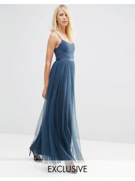 Giselle - Maxikleid im Ballett-Stil - Marineblau