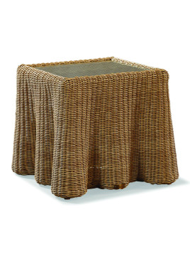 Crespi Square Accent Table, Brown - Neiman Marcus