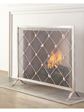 Giallastro Quartz-Accent Fireplace Screen - Neiman Marcus