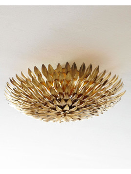 Golden Mum Flush-Mount Light Fixture, Atqgld - Neiman Marcus