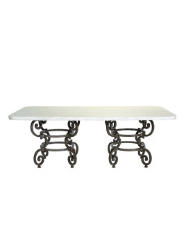 Hemingway Outdoor Florentine Rectangular Dining Table, White - Neiman Marcus