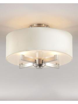 Silver Satin Semi-Flush Ceiling Fixture - Neiman Marcus