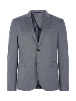 Blazer gris texturé en maille point de rome
