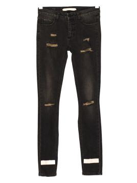 Black destroyed skinny fit jeans 5 pocket