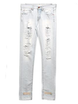 Jeans cinque tasche effetto destroyed