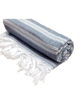 Miz Casa & Co Australian Designer Sintra Black Basic Turkish Towel