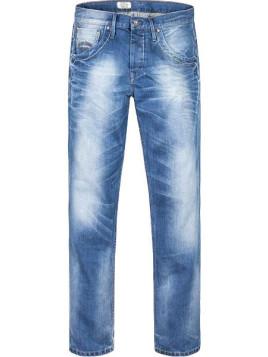 Herren Jeans-Hose Regular Fit Baumwolle jeansblau