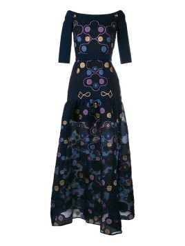 Embroidered Cora Gown