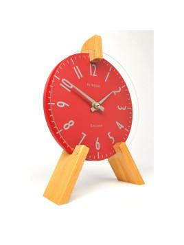 Peg Mantel Clock - Red