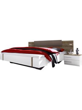rauch Bettanlage Calvia (3-tlg.) weiß 160/200 cm Bett ist höhenverstellbar