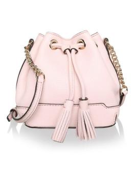 Tasche - Lexi Micro Bucket Bag Leather Baby Pink - in rosa - Umhängetasche für Damen