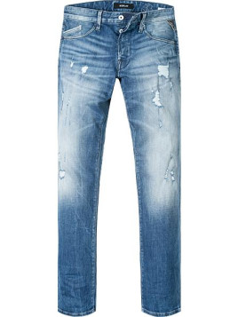 Herren Blue-Jeans Regular Slim Fit Baumwoll-Stretch 12,5oz blau