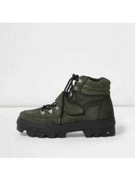 Bottes de randonnée en daim vert kaki