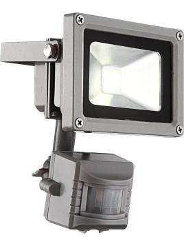 LED-Baustrahler - grau - Bewegungsmelder - tageslichtweiß