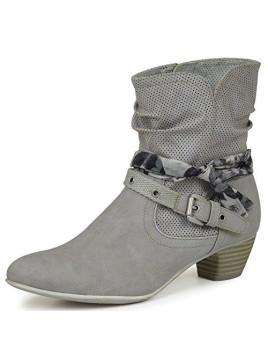 5-25314-26 Damen Sommer Stiefeletten lt. grey (grau) (40, lt. grey)