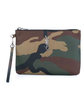 Camouflage Leather Pouch