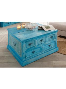 SIT Couchtisch-Truhe, blau, Massivholz, Holz, SIT-Möbel »Blue«, FSC-zertifiziert