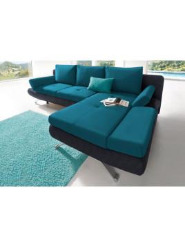 Polster-Ecke, Sit & More, mit Bettfunktion schwarz Recamiere rechts Aus FSC-zertifiziertem Holzwerkstoff