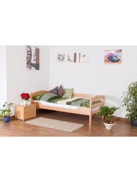 Einzelbett Easy Sleep K1/n/s, Buche Vollholz massiv Natur - Maße: 90 x 190 cm