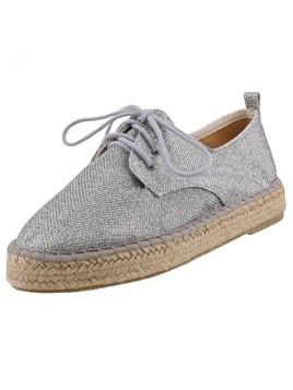 Damen Schnürschuhe Silber, Schuhgröße:EUR 36