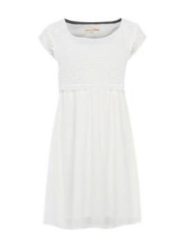 Kleid mit Spitze weiß
