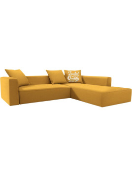 Ecksofa XL »Heaven Casual Colors«, TOM TAILOR, gelb, Ohne Bettfunktion, Ottomane rechts