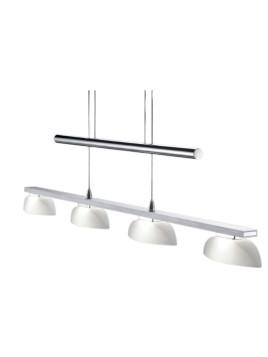 LED-Pendellampe, TRIO LEUCHTEN, silberfarben, 4-flg. - Länge ca. 90 cm, EEK A+