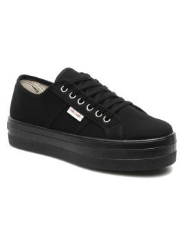 Blucher Lona Plataforma - Sneakers per Donna / Nero