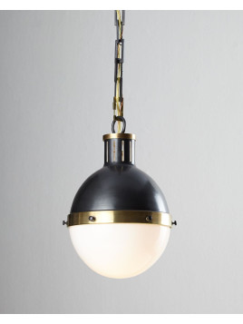 Hicks 2-Light Extra-Large Bronze with Antiqued Brass Pendant