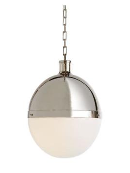 Hicks 2-Light Extra-Large Polished-Nickel Pendant