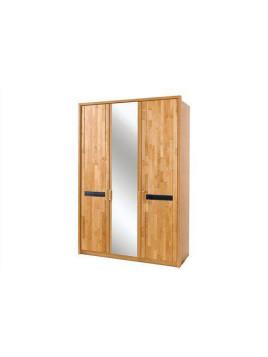 Wäsche-Schrank mit Spiegeltüren, beige, Massivholz, Breite 150cm, Holz, WIEMANN »Korsika«