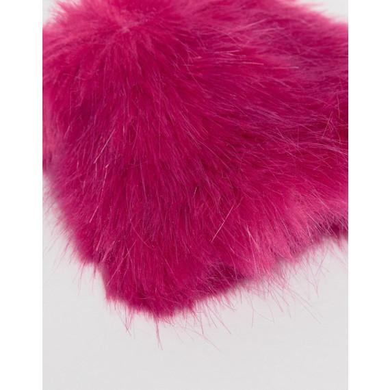 Faux Fur Short Hot Pink Cuffs - Hot pink