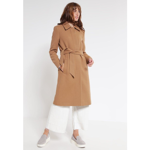 IZA Wollmantel / klassischer Mantel nougat