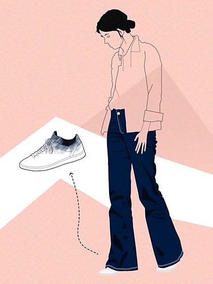 O seu jeans manchou o seu tênis branco? Evite manchas com essas 3 dicas