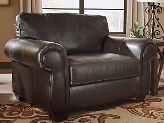 Ashley Furniture Lorton Oversized Chair, Chocolate Leather