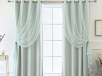 Best Home Fashion Best Home Fashion Mix U0026 Match Colored Tulle U0026 Blackout  Curtains   Mint